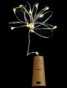 Led-нить «Сork light for bottle» на 15 ламп (молочно-белая, 1.6 м)