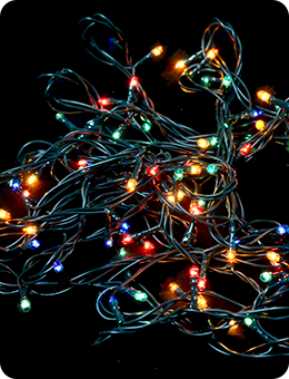Многоцветная электрогирлянда на 160 лампочек (8 м)