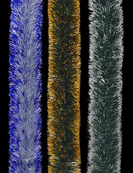 Новогодняя мишура двухцветная (300х10см)