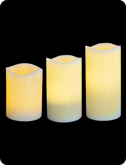 Рождественский набор LED-свечей (пластик, 3 шт.)