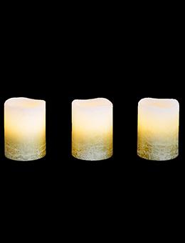Рождественский набор LED-свечей (воск, 3 шт.)