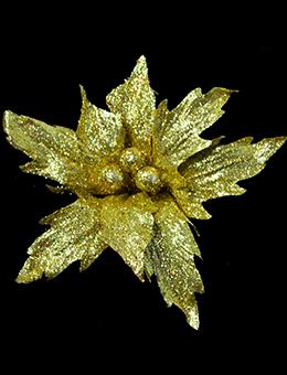 Пуансеттия золотая (24 см)