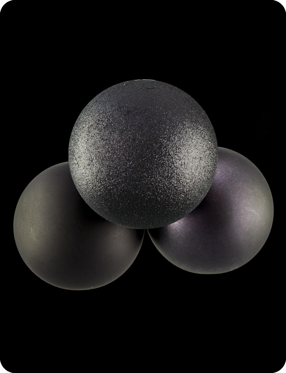 Шар чёрный (глиттерный, матовый или перламутровый на выбор), d-10 см